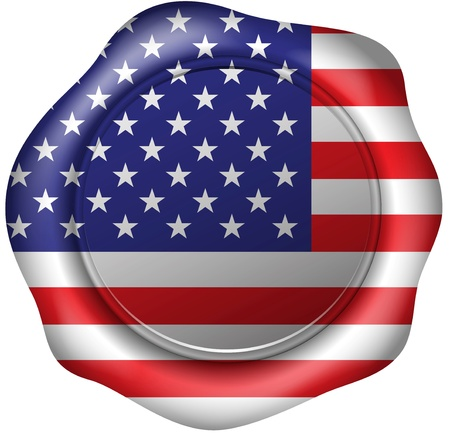 Wax seal with the american flag
