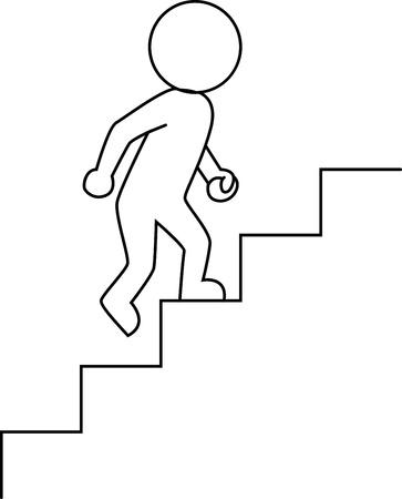 climbing stairs: Imprenditore intensificando Vettoriali