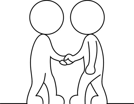 Businessman shake hand  Illustration