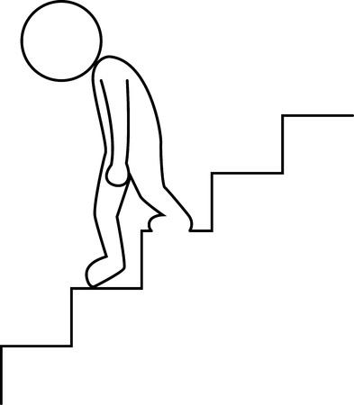 empresario triste: Triste empresario caminando abajo