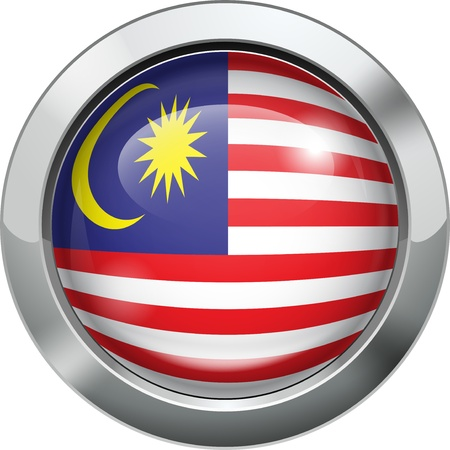 patriotic border: Malaysian flag metal button