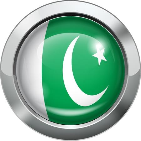 pakistan flag: Pakistan flag metal button