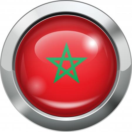 Morocco flag metal button Stock Vector - 20693990