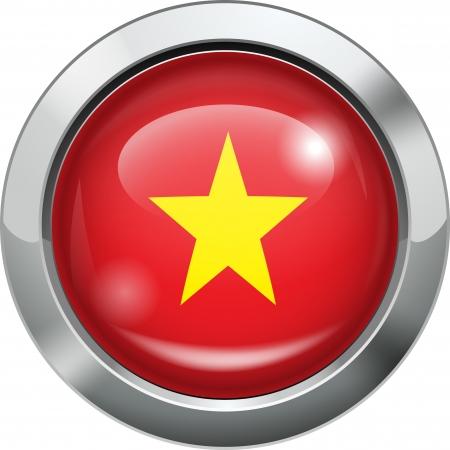 vietnam flag: Vietnam flag metal button
