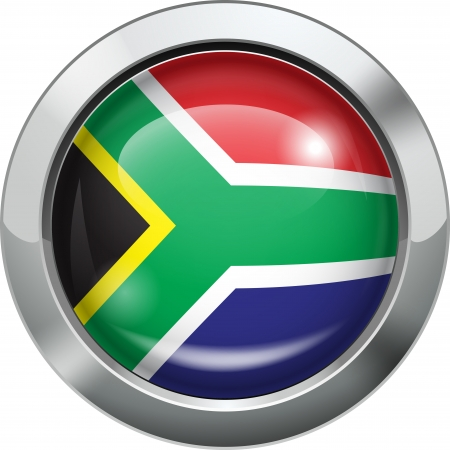 South African flag metal button  Stock Vector - 20693993