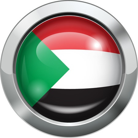 Palestine flag metal button  Vector