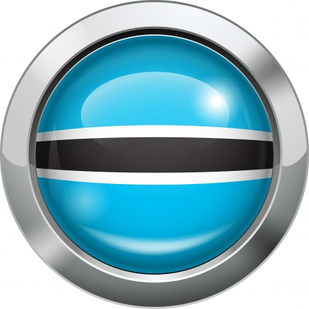 Botswana flag metal button  Stock Vector - 20693998
