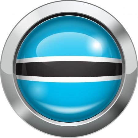 Botswana flag metal button Stock Vector - 20693998