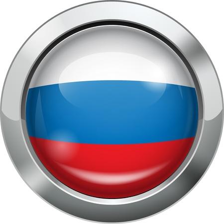 russian flag: Russian flag metal button