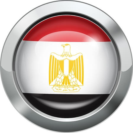 flag of egypt: Egipto botón de bandera del metal