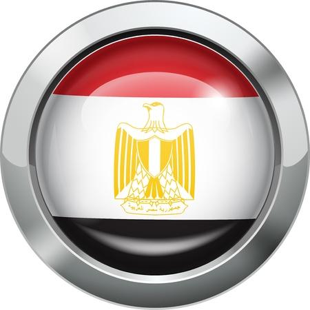 egypt flag: Egypt flag metal button