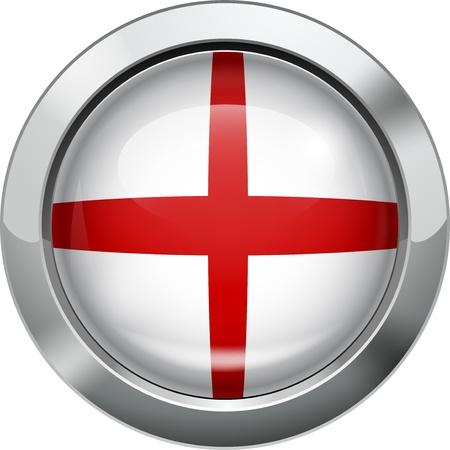 drapeau angleterre: Angleterre bouton en m�tal drapeau Illustration