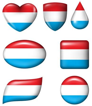 dutch flag: Dutch Flag in various shape glossy button