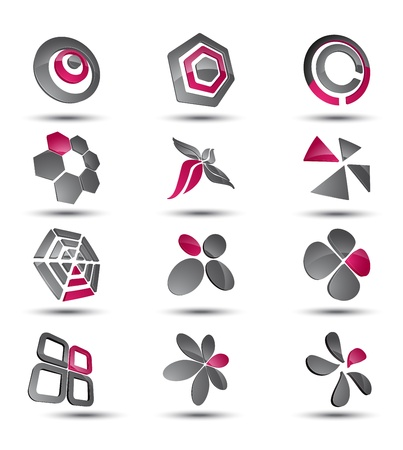 Abstract business icon collection set