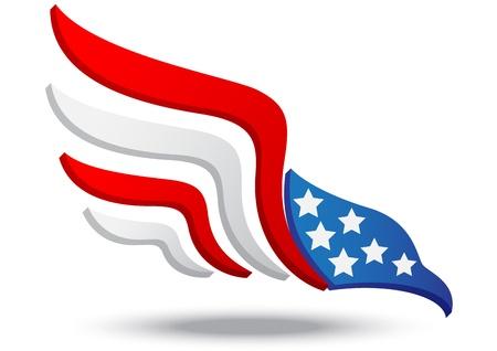 American eagle icon Illustration