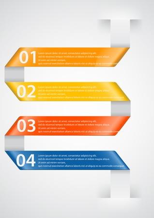Modern arrow infographic  Illustration