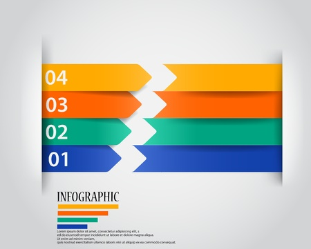 Modern arrow infographic  Illustration