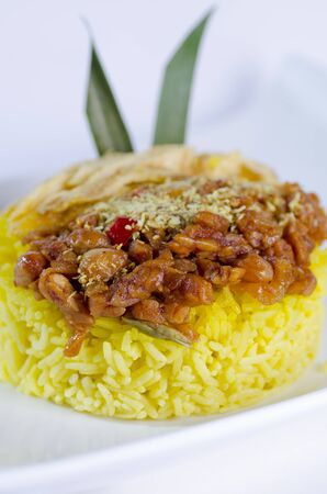 goreng: Vegetarian Nasi Goreng the famous Indonesian freid rice Stock Photo