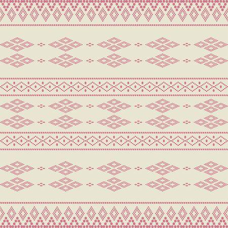 Creative design cloth horizontal pattern. Tribal ethnic ornament seamless pattern. Colorful vector illustration. Ethnic motif batik for textile