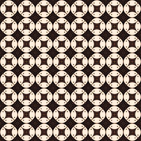 Javanese batik seamless pattern with brown colorway. Various Indonesian traditional batik motifs. design texture for fabrication