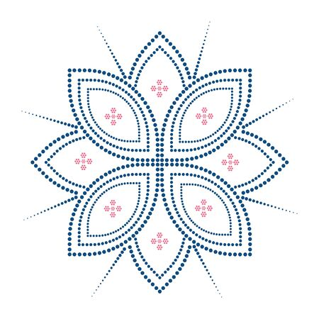 abstract blue and pink flower dotted. element pattern fabric design. home decoration wallpaper.