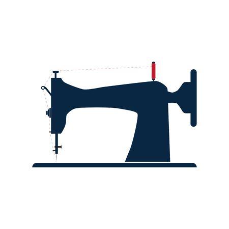 Traditionelle Nähmaschine für Ausrüstung zum Nähen von Modekleidung. Handgefertigt