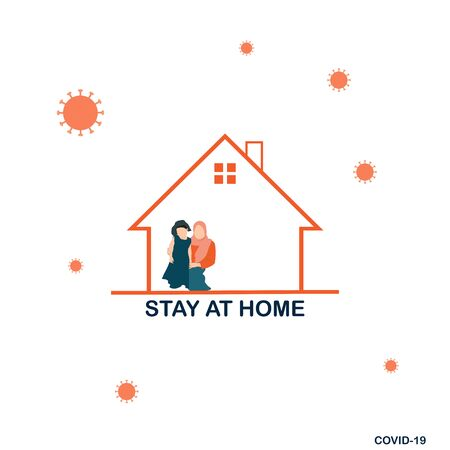 Novel Coronavirus (2019-nCoV). Stay at Home Order icon. A Stay at Home order is the Governor directing people to avoid going out in public unless it is absolutely necessary