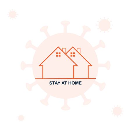 Novel Coronavirus (2019-nCoV). Stay at Home Order icon. A Stay at Home order is the Governor directing people to avoid going out in public unless it is absolutely necessary Ilustración de vector