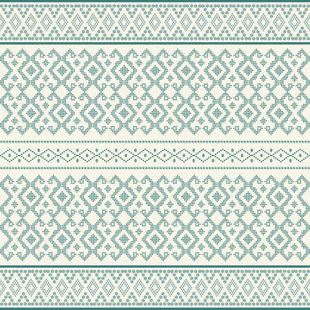 Seamless geometric background motif ulos batak. seamless traditional textile bandhani sari border. creative seamless indiant bandhani textures border design