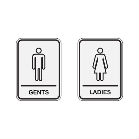 Toilet icon great for any use. WC Toilet Gents and Ladies Sign