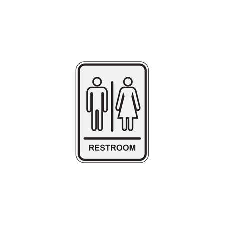 Toilet icon great for any use. WC Toilet Restroom Lavatory Men and Women Sign Çizim