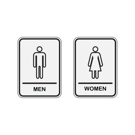 Toilet icon great for any use. WC Toilet Men and Women Sign