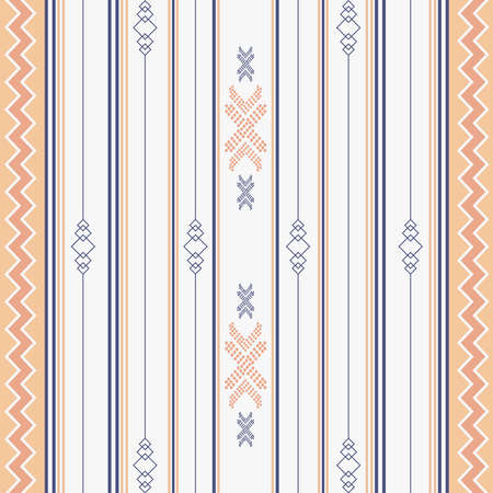 Seamless ethnic pattern. Aztec tribal ethnic seamless pattern with geometric shapes based print on your textiles Vetores