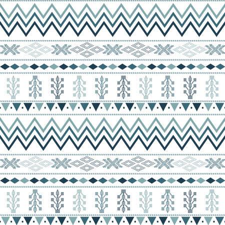 seamless pattern with motif Aztec tribal geometric shapes. seamless traditional textile bandhani sari border. creative seamless indiant bandhani textures border