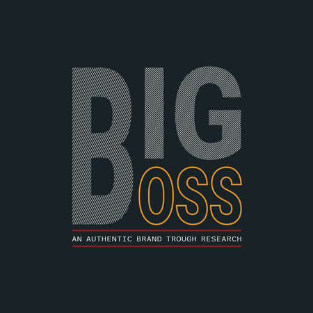 Lettering of Big Boss the next generation with Illustration vector graphic. suitable t for t-shirts design, clothing, hoodies, etc.