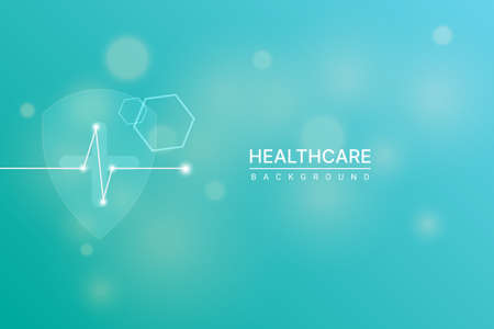 Healthcare, medical, technology and science wallpaper template. vector illustration