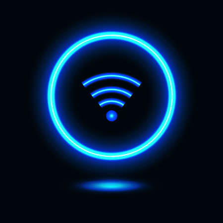 wireless connection icon for website and UI material. vector illustration