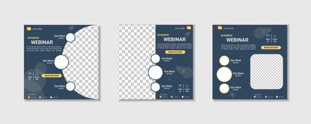 collection webinar social media post template. Banner promotion