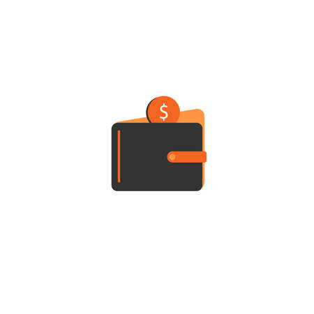 wallet and cash icon, mobile application template, element design and website. vector illustration isolated on white background 向量圖像