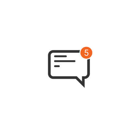 new message incoming icon, mobile application template, element design and website. vector illustration isolated on white background