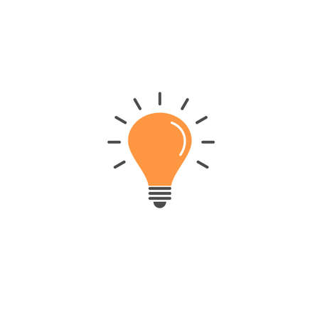 bulb icon for tips and trick, mobile application template, element design and website. vector illustration isolated on white background 向量圖像