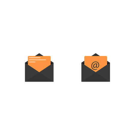 Reading message on incoming mail icon, mobile application template, element design and website. vector illustration isolated on white background