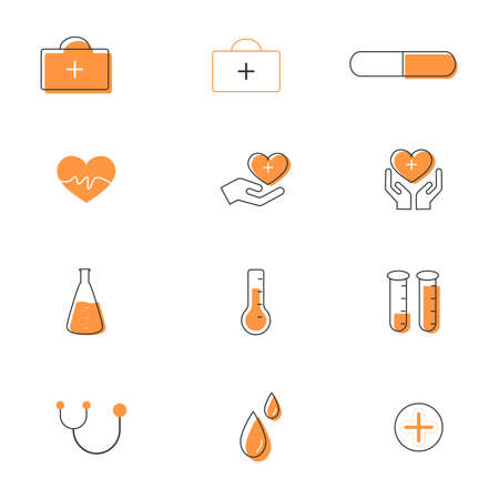 set of Medical or healthcare icon. sign and symbols in flat design medicine and health with elements for mobile concepts and web apps