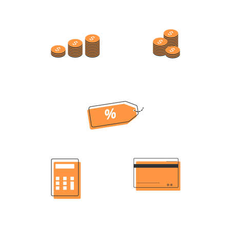 Simple Set of Financial icon. money, finance, payments