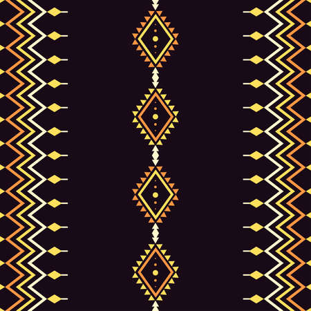 Ethnic Seamless pattern aztec tribal art fabric print, home decoration, wallpaper, cloth. yellow color