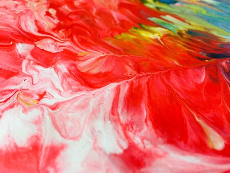 Close Up Colorful Fluid Pouring Abstract Art Acrylic Painting Texture Background