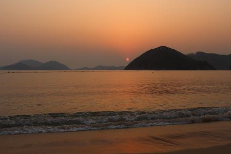 repulse: Sunset at repulse bay, Hong Kong Stock Photo