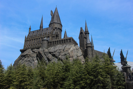 Hogwarts School of Witchcraft and Wizardry Stock Photo