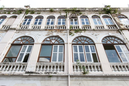 bangrak: BANGKOK, THAILAND - Aug 28, 2016 : An old building of East Asiatic in Thailand. This building was constructed with Western style for a logistic company in an old time.