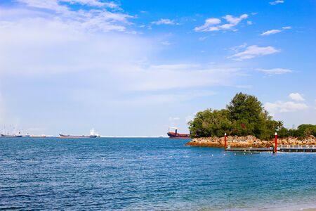 Siloso beach in Sentosa island, Singapore